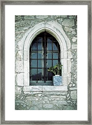 Greek Chapel Framed Print by Joana Kruse