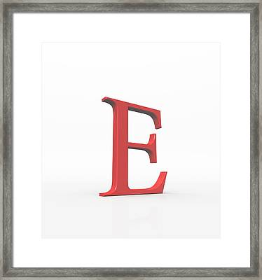 Greek Letter Epsilon, Upper Case Framed Print by David Parker