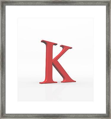 Greek Letter Kappa, Upper Case Framed Print by David Parker