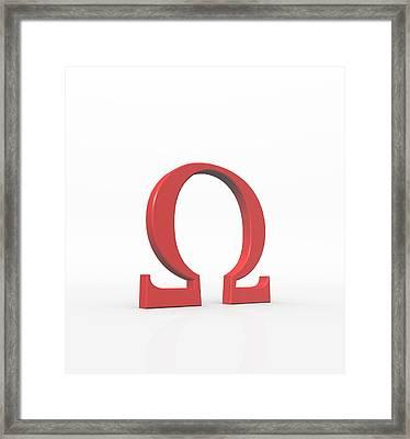 Greek Letter Omega, Upper Case Framed Print by David Parker