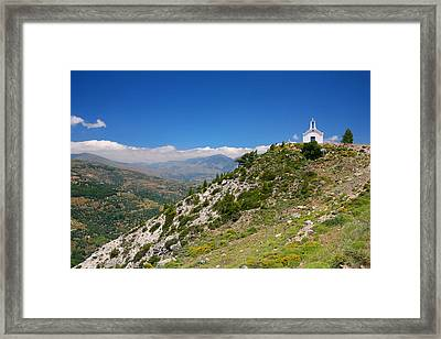 Greek Mountain Church Framed Print