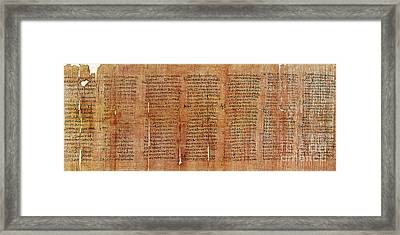Greek Papyrus Horoscope Framed Print