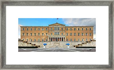 Greek Parliament Framed Print by Constantinos Iliopoulos