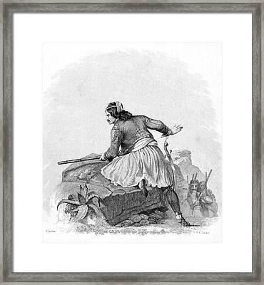 Greek Soldier, 1820s Framed Print