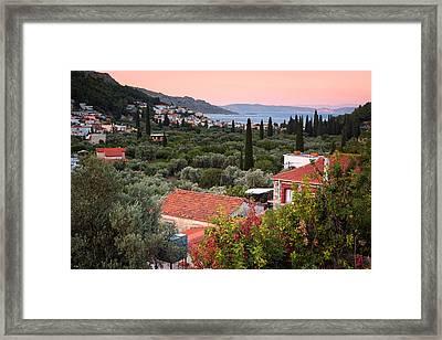 Greek Village  Framed Print by Emmanuel Panagiotakis