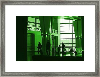 Green Airport Framed Print by Ron Morales