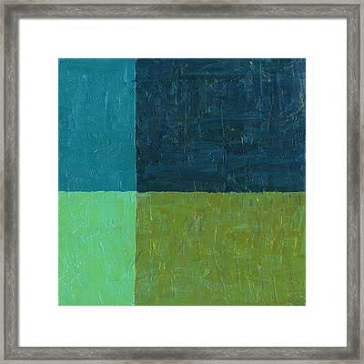Green And Blue Framed Print by Michelle Calkins