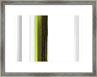 Green And White Framed Print by Naxart Studio