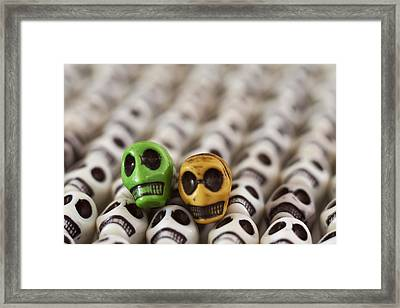 Green And Yellow Framed Print