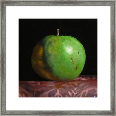Green Apple Number 4 Framed Print by Jeffrey Hayes