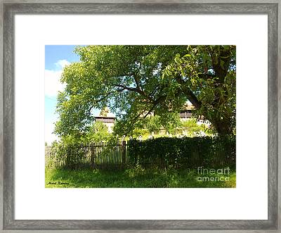 Framed Print featuring the photograph Green Arch by Ramona Matei
