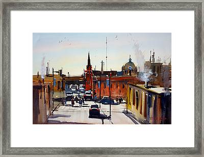 Green Bay Overview Framed Print