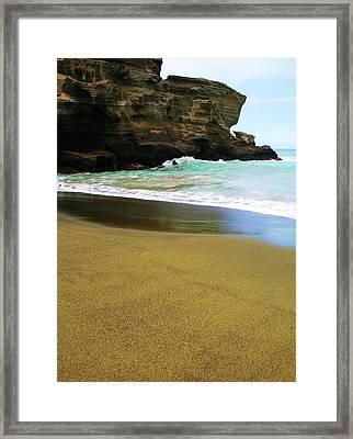 Green Beach Framed Print by James Mancini Heath