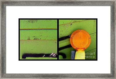 Green Bein' Framed Print by Marlene Burns