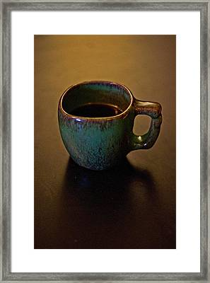 Framed Print featuring the photograph Green Cup Of Coffee by Randall  Cogle