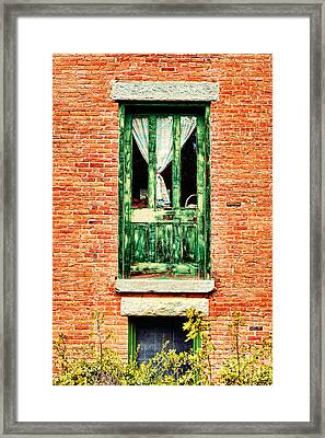 Green Door Framed Print by HD Connelly