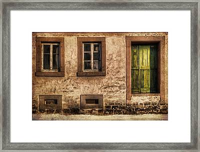 Green Door Framed Print by Ryan Wyckoff