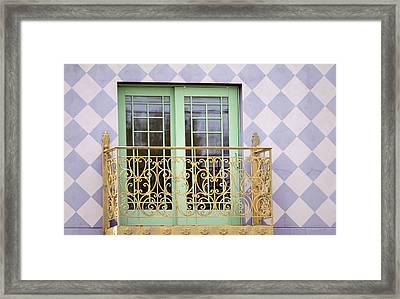 Green Doors Framed Print