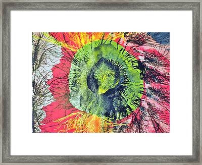 Green Dot Framed Print
