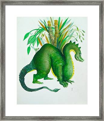 Green Dragon Framed Print by Richard Yoakam