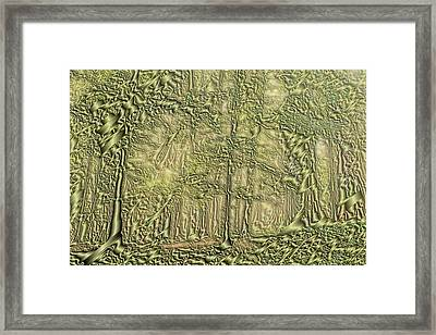 Green Dream Forest Framed Print by Odon Czintos
