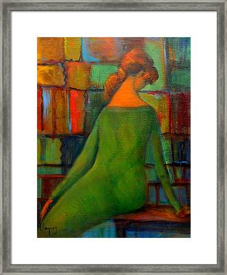 Green Dress Framed Print