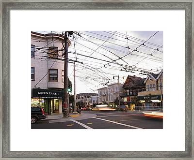 Green Earth Foods - San Francisco Framed Print by Daniel Hagerman