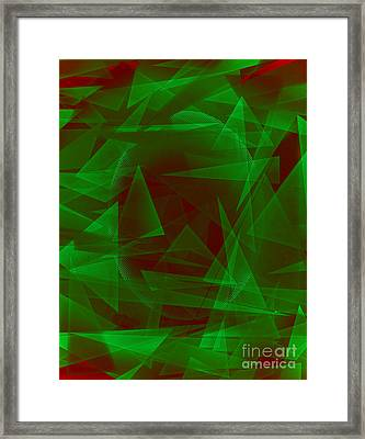 Green Eyed Monster Abstract Framed Print by Michelle Bergersen