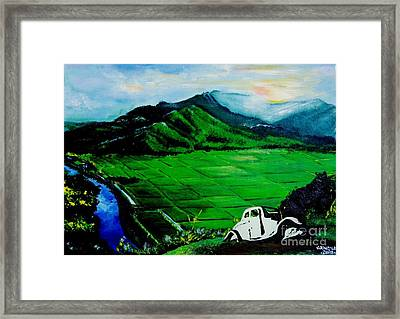 Green Fields Framed Print by Jay Anthony Gonzales