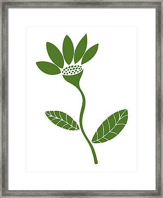Green Flower Framed Print by Frank Tschakert