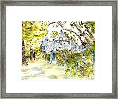 Framed Print featuring the painting Green Gables by Lou Belcher