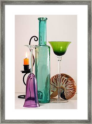 Framed Print featuring the photograph Green Glass by Elf Evans