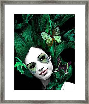 Green Goddess Framed Print by Diana Shively