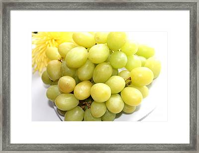 Green Grapes And Mum Framed Print by Barbara Griffin