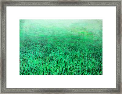 Green Grass Framed Print