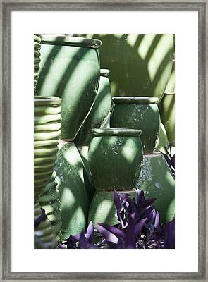Green Grouping 3 Framed Print by Teresa Mucha
