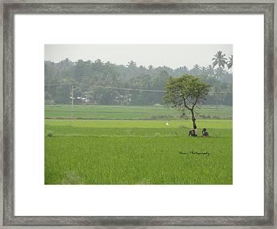 Green Framed Print by Hari Ram