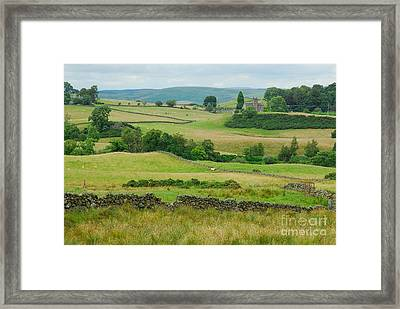 Green Hills Of Galloway Framed Print by John Kelly