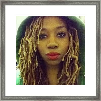 Green Hoodie  Framed Print