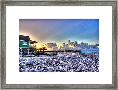 Green House At Little Lagoon Framed Print by Michael Thomas