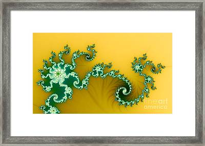 Green In The Yellow Framed Print