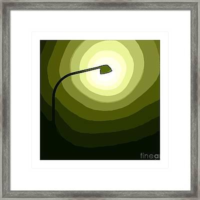 Green Is Hope Framed Print by Steve K
