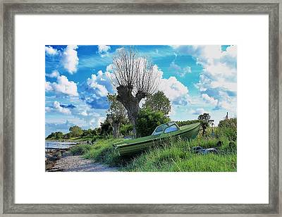 Green Is The Word Framed Print