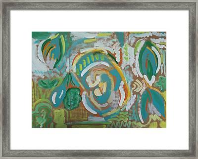 Green Framed Print by Jay Manne-Crusoe