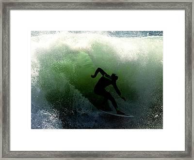 Green Kahuna Framed Print by Joe Schofield
