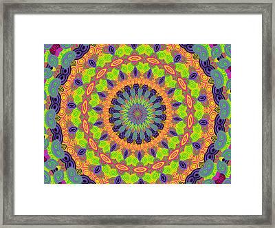 Green Kalidescope Framed Print by Rosalie Scanlon