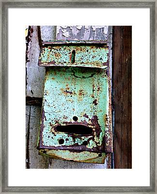 Green Mailbox Framed Print