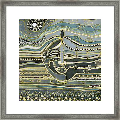 Green Maya Framed Print