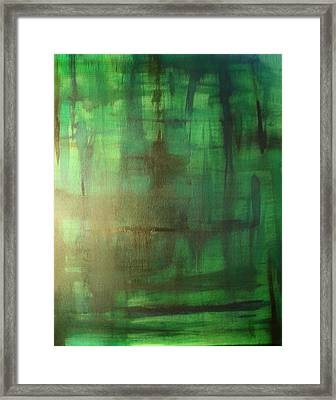Green Meadow Framed Print by Derya  Aktas
