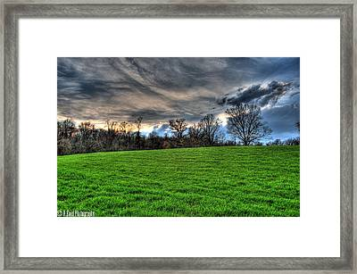 Green Meets Blue Framed Print by Heather  Boyd